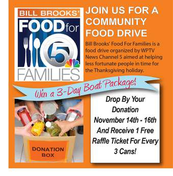 November 14th-16th - Food For Families Drive